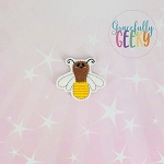 Kawaii Firefly  Feltie ITH Embroidery Design 4x4 hoop (and larger)