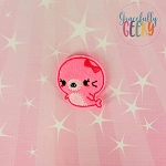 Kawaii Girl Seal Feltie ITH Embroidery Design 4x4 hoop (and larger)
