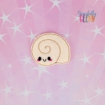 Kawaii seashell 2 Feltie ITH Embroidery Design 4x4 hoop (and larger)