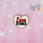 Love Stinks Feltie ITH Embroidery Design 4x4 hoop (and larger)