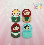 Matryoshka finger puppet and accessories - Embroidery Design
