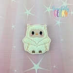 Christmas Owl 4 Feltie ITH Embroidery Design 4x4 hoop (and larger)