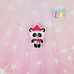 Panda 3 Feltie ITH Embroidery Design 4x4 hoop (and larger)