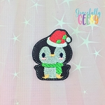 Penguin 1 Feltie ITH Embroidery Design 4x4 hoop (and larger)