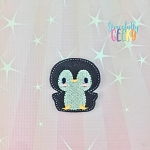 Penguin 2 Feltie ITH Embroidery Design 4x4 hoop (and larger)
