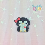 Penguin 3 Feltie ITH Embroidery Design 4x4 hoop (and larger)
