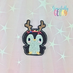 Penguin 4 Feltie ITH Embroidery Design 4x4 hoop (and larger)