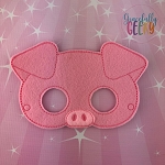 Pig 2 Mask  Embroidery Design - 5x7 Hoop or Larger
