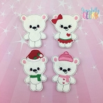 Polar Bear finger puppet set - Embroidery Design