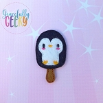 Popsicle Penguin Set ITH Embroidery Design 4x4 hoop (and larger)