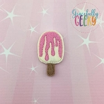 Popsicle Strawberry Set ITH Embroidery Design 4x4 hoop (and larger)