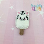 Popsicle Zebra Set ITH Embroidery Design 4x4 hoop (and larger)