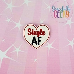 Single AF Feltie ITH Embroidery Design 4x4 hoop (and larger)