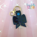 Star bow Snap Keychain ITH Embroidery Design - 5x7 Hoop or Larger