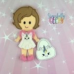 Sydney Dress up Doll and accessories - Embroidery Design 5x7 hoop or larger