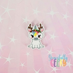 Unicorn 2 feltie ITH Embroidery Design 4x4 hoop (and larger)