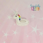Unicorn Pool Floatie Feltie ITH Embroidery Design 4x4 hoop (and larger)