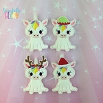 Unicorn finger puppet set - Embroidery Design