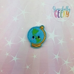 Globe Feltie ITH Embroidery Design 4x4 hoop (and larger)