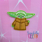 Baby Alien Force (APPLIQUE) Feltie ITH Embroidery Design 4x4 hoop (and larger)