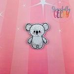 Koala Doll Feltie ITH Embroidery Design 4x4 hoop (and larger)