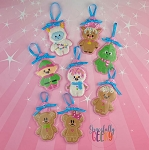 Candy Land Crew SET Ornament Embroidery Design - 4x4 Hoop or Larger