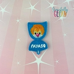 Payaso Paleta Feltie ITH Embroidery Design 4x4 hoop (and larger)