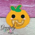 Pumpkin candy pouch  ITH Embroidery Design 4x4 hoop (and larger) (COPY)