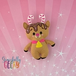 Reindeer Felt Stuffie Embroidery Design - 5x7 Hoop or Larger
