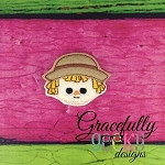 Scarecrow Girl Boy Feltie ITH Embroidery Design 4x4 hoop (and larger)