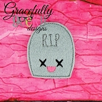 Kawaii Tombstone Feltie ITH Embroidery Design 4x4 hoop (and larger)