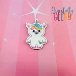 Unicorn Doll Feltie ITH Embroidery Design 4x4 hoop (and larger)