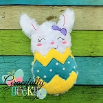 Bunny In Egg Stuffie ITH Embroidery Design - 5x7 Hoop or larger