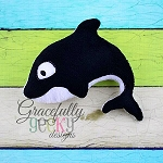 Whale Stuffie ITH Embroidery Design - 5x7 Hoop or larger