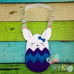 Bunny In egg Bag Embroidery Design - 5x7 Hoop or Larger