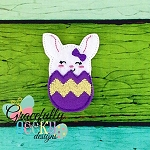 Bunny in Egg Feltie ITH Embroidery Design 4x4 hoop (and larger)