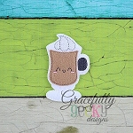 Cappuccino Feltie ITH Embroidery Design 4x4 hoop (and larger)