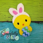 Chick Bunny OVERSIZE Feltie ITH Embroidery Design 4x4 hoop (and larger)