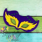 Mardi  Mask 1 Embroidery Design - 5x7 Hoop or Larger