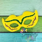 Mardi  Mask 2 Embroidery Design - 5x7 Hoop or Larger