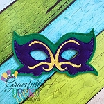 Mardi  Mask 3 Embroidery Design - 5x7 Hoop or Larger  (COPY)