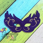 Mardi  Mask 4 Embroidery Design - 5x7 Hoop or Larger