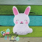 Bunnie Stuffie ITH Embroidery Design - 5x7 Hoop or larger