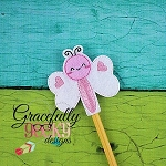 Butterfly Pencil Topper ITH Embroidery Design 4x4 hoop (and larger)