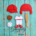 Baseball Dress up Doll - Embroidery Design 5x7 hoop or larger **OUTFIT AND ACCESSORIES ONLY