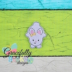 Belly Down bunny Feltie ITH Embroidery Design 4x4 hoop (and larger)