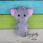 Elephant Stuffie ITH Embroidery Design - 5x7 Hoop or larger
