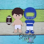 Football Dress up Doll - Embroidery Design 5x7 hoop or larger **OUTFIT AND ACCESSORIES ONLY**