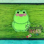 Froggy Feltie ITH Embroidery Design 4x4 hoop (and larger)