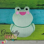 Froggy Stuffie ITH Embroidery Design - 5x7 Hoop or larger
